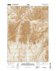 Cottonwood Pass Wyoming Current topographic map, 1:24000 scale, 7.5 X 7.5 Minute, Year 2015
