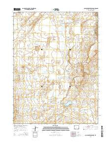Cow Creek Reservoir Wyoming Current topographic map, 1:24000 scale, 7.5 X 7.5 Minute, Year 2015