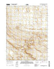 Cow Creek Reservoir SW Wyoming Current topographic map, 1:24000 scale, 7.5 X 7.5 Minute, Year 2015 from Wyoming Maps Store