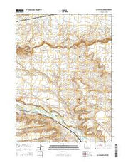 Cow Hollow Creek Wyoming Current topographic map, 1:24000 scale, 7.5 X 7.5 Minute, Year 2015 from Wyoming Maps Store