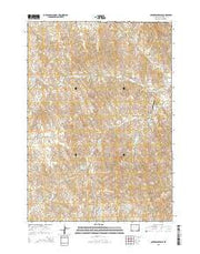 Coyer Reservoir Wyoming Current topographic map, 1:24000 scale, 7.5 X 7.5 Minute, Year 2015 from Wyoming Maps Store