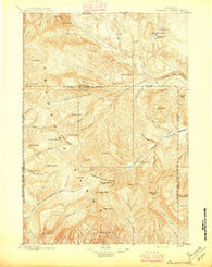 Crandall Creek Wyoming Historical topographic map, 1:125000 scale, 30 X 30 Minute, Year 1896