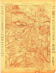 Crandall Wyoming Historical topographic map, 1:125000 scale, 30 X 30 Minute, Year 1899