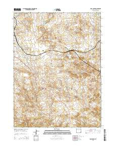 Dale Creek Wyoming Current topographic map, 1:24000 scale, 7.5 X 7.5 Minute, Year 2015