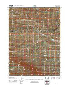 Dana Wyoming Historical topographic map, 1:24000 scale, 7.5 X 7.5 Minute, Year 2012