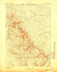 Dayton Wyoming Historical topographic map, 1:125000 scale, 30 X 30 Minute, Year 1895