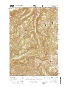 Dead Indian Meadows Wyoming Current topographic map, 1:24000 scale, 7.5 X 7.5 Minute, Year 2015