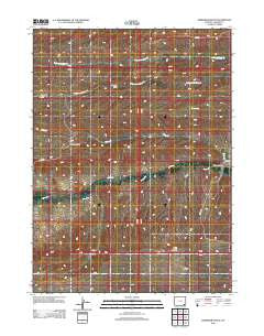 Dereemer Ranch Wyoming Historical topographic map, 1:24000 scale, 7.5 X 7.5 Minute, Year 2012