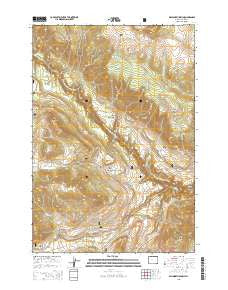 Dillworth Bench Wyoming Current topographic map, 1:24000 scale, 7.5 X 7.5 Minute, Year 2015