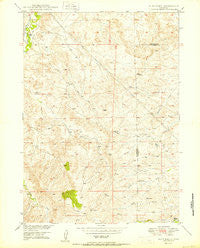 Dilts Ranch Wyoming Historical topographic map, 1:24000 scale, 7.5 X 7.5 Minute, Year 1950