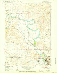 Douglas Wyoming Historical topographic map, 1:24000 scale, 7.5 X 7.5 Minute, Year 1950