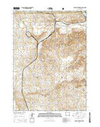 Dugout Creek North Wyoming Current topographic map, 1:24000 scale, 7.5 X 7.5 Minute, Year 2015 from Wyoming Map Store