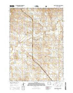 Dugout Creek South Wyoming Current topographic map, 1:24000 scale, 7.5 X 7.5 Minute, Year 2015 from Wyoming Map Store