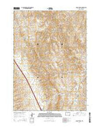 Dugout Ranch Wyoming Current topographic map, 1:24000 scale, 7.5 X 7.5 Minute, Year 2015 from Wyoming Map Store