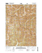 Dunrud Peak Wyoming Current topographic map, 1:24000 scale, 7.5 X 7.5 Minute, Year 2015 from Wyoming Map Store