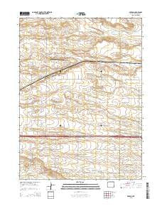 Durham Wyoming Current topographic map, 1:24000 scale, 7.5 X 7.5 Minute, Year 2015