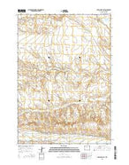 Dutch Nick Flat Wyoming Current topographic map, 1:24000 scale, 7.5 X 7.5 Minute, Year 2015 from Wyoming Map Store