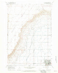 Elk Basin SE Wyoming Historical topographic map, 1:24000 scale, 7.5 X 7.5 Minute, Year 1966