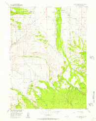 Elk Mountain SW Wyoming Historical topographic map, 1:24000 scale, 7.5 X 7.5 Minute, Year 1955