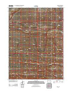 Emkay Wyoming Historical topographic map, 1:24000 scale, 7.5 X 7.5 Minute, Year 2012