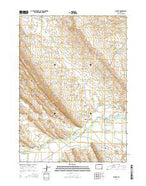Ethete Wyoming Current topographic map, 1:24000 scale, 7.5 X 7.5 Minute, Year 2015 from Wyoming Map Store