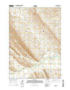 Ethete Wyoming Current topographic map, 1:24000 scale, 7.5 X 7.5 Minute, Year 2015