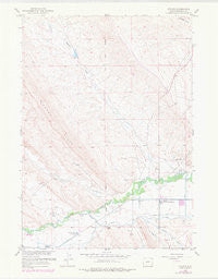 Ethete Wyoming Historical topographic map, 1:24000 scale, 7.5 X 7.5 Minute, Year 1959