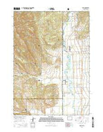 Etna Wyoming Current topographic map, 1:24000 scale, 7.5 X 7.5 Minute, Year 2015 from Wyoming Map Store