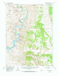 Firehole Basin Wyoming Historical topographic map, 1:62500 scale, 15 X 15 Minute, Year 1966