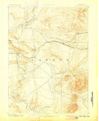 Fort Steele Wyoming Historical topographic map, 1:125000 scale, 30 X 30 Minute, Year 1893