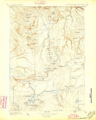Gallatin Wyoming Historical topographic map, 1:125000 scale, 30 X 30 Minute, Year 1885