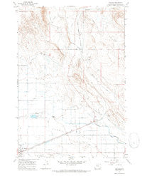 Garland Wyoming Historical topographic map, 1:24000 scale, 7.5 X 7.5 Minute, Year 1966