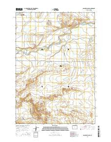 Gilmore Hill NW Wyoming Current topographic map, 1:24000 scale, 7.5 X 7.5 Minute, Year 2015