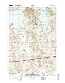 Grasshopper Butte Wyoming Current topographic map, 1:24000 scale, 7.5 X 7.5 Minute, Year 2015