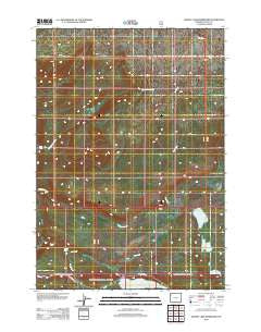 Grassy Lake Reservoir Wyoming Historical topographic map, 1:24000 scale, 7.5 X 7.5 Minute, Year 2012