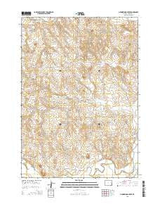 Greasewood Creek Wyoming Current topographic map, 1:24000 scale, 7.5 X 7.5 Minute, Year 2015