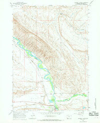 Greybull North Wyoming Historical topographic map, 1:24000 scale, 7.5 X 7.5 Minute, Year 1966