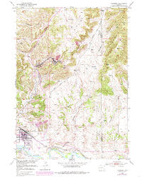 Guernsey Wyoming Historical topographic map, 1:24000 scale, 7.5 X 7.5 Minute, Year 1950