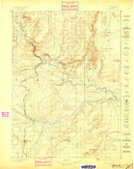Hartville Wyoming Historical topographic map, 1:125000 scale, 30 X 30 Minute, Year 1896