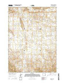 Hat Creek Wyoming Current topographic map, 1:24000 scale, 7.5 X 7.5 Minute, Year 2015