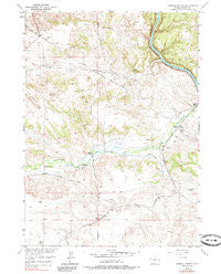 Herman Ranch Wyoming Historical topographic map, 1:24000 scale, 7.5 X 7.5 Minute, Year 1950