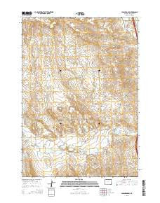Hibbard Draw Wyoming Current topographic map, 1:24000 scale, 7.5 X 7.5 Minute, Year 2015