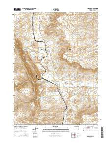 Horse Creek Wyoming Current topographic map, 1:24000 scale, 7.5 X 7.5 Minute, Year 2015