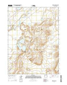 Hutton Lake Wyoming Current topographic map, 1:24000 scale, 7.5 X 7.5 Minute, Year 2015