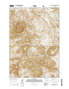 Inyan Kara Mountain Wyoming Current topographic map, 1:24000 scale, 7.5 X 7.5 Minute, Year 2015