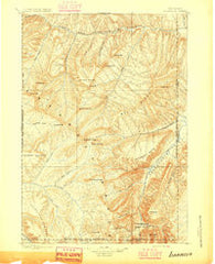 Ishawooa Wyoming Historical topographic map, 1:125000 scale, 30 X 30 Minute, Year 1895