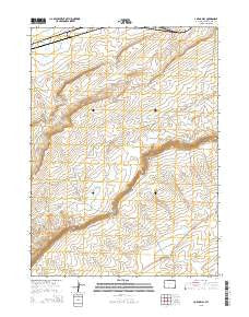 J O Dugway Wyoming Current topographic map, 1:24000 scale, 7.5 X 7.5 Minute, Year 2015