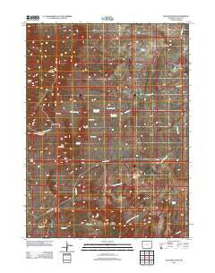 Jelm Mountain Wyoming Historical topographic map, 1:24000 scale, 7.5 X 7.5 Minute, Year 2012