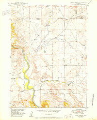 Jewel Springs Wyoming Historical topographic map, 1:24000 scale, 7.5 X 7.5 Minute, Year 1950