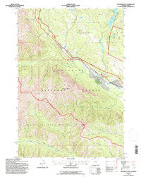 Jim Smith Peak Wyoming Historical topographic map, 1:24000 scale, 7.5 X 7.5 Minute, Year 1991